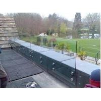 China Modern Exterior Toughened Glass Balustrade Panels , Building Glass Guardrail on sale