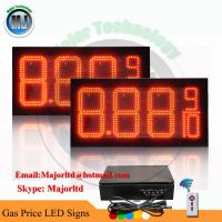 China 8 LED GAS STATION Electronic Fuel PRICE SIGN DIGITAL CHANGER on sale