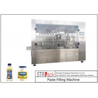 China Customized Mayonnaise / Ketchup Filling Machine , High Viscosity Piston Filler on sale