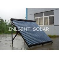 45 Degree Frame Heat Pipe Solar Water Heater With Stainless Bolts , Plastic Tube Holder Manufactures