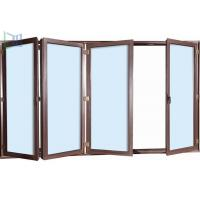 China Safety Exterior Aluminium Bifold Doors , Folding Glass Patio Doors As2047 Standard wholesale