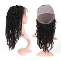 China Full Lace Curly Human Hair Wigs Medium Size For Black Women , 130% Density wholesale