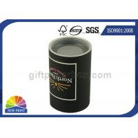 Custom Logo Imprint Plastic Cap Paper Can Packaging , Cardboard Tube Containers Manufactures