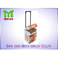 China Gift Waterproof Cardboard Box With Handles / Recycled Cardboard Suitcase on sale
