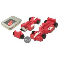 China F1 car shape soft plastic PVC USB Flash Drives disks with 2G, 4G for boys gifts  (MY-U246) on sale