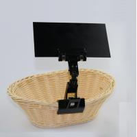 China Price label holder, clip on sign price holder retail card gripper in Black color on sale