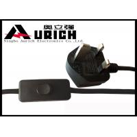 BS 1363 Plug 3 Prong UK Power Cord , Salt Lamp Power Cord With Dimmer