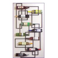 China Handcrafted Wall Metal Wine Rack on sale