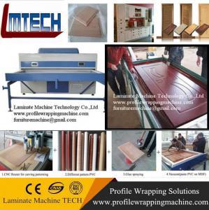 Buy cheap China PVC decorative wood carvings door furniture vacuum membrane press machine from wholesalers