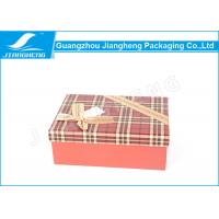 China OEM Rigid Cardboard Gift Boxes Chocolate Packaging Ribbon Bowknot Surface wholesale
