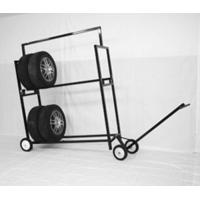 Stainless Steel Two Layer Tyre Display Rack With Powder Coated Manufactures