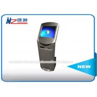 China 19 Inch Free Standing Touch Screen Information Kiosk With Card Reader / Printer on sale
