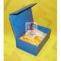 Blue Cardboard custom printed gift boxes Foil Lined Movable Cover Manufactures