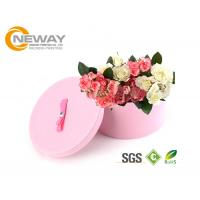 China Flower Gift Box Round Colorful Luxury Flower Custom Printed Cardboard Boxes for Gift Packing on sale