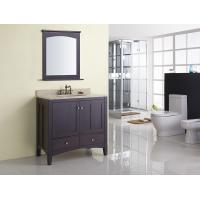 China Square Modern Bathroom Sink Vanity / Rectangle Sink Vanity Contemporary Dark Brown on sale