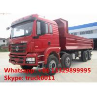 Hot sale Shacman brand 8*4 40tons dump tipper truck, best price Shacman Brand heavy duty 40tons dump tipper truck Manufactures