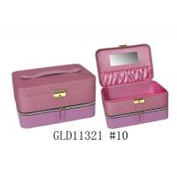 Square Avon Fabric Custom Packing Boxes , Cardboard Jewelry Boxes With Mirror Manufactures