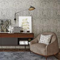 Buy cheap Fashion Bedroom Plant Fiber Particle Wallpaper China Manufacture from wholesalers