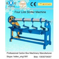 Adjustment Carton Box Making Machine 1.5kw with Four Links Slotter , 3000mm Width Manufactures