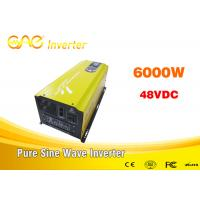 CE & FCC 6kw Single output off grid solar inverter 48vdc 220vac frequency inverter for solar power system Manufactures