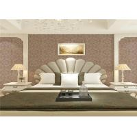 Wet Embossed Non Pasted Bedding Room European Style Wallpaper 0.53*10m Manufactures