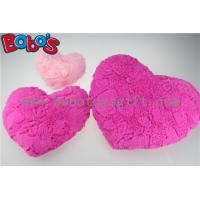Valentine Gift Plush Soft Heart Pillow Cushion in Pink and Hot Pink Color Manufactures