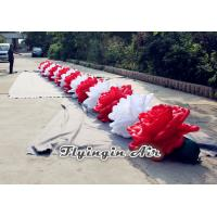 10m Inflatable Flower Chain with White and Red Flowers for Wedding Manufactures
