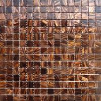 China Waterproof Gold Line Series Glass Mosaic Tile For Bar / Countertop on sale