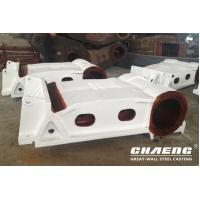 China Steel casting fixed and moving jaw plate for crusher on sale