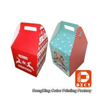 China Beautiful Small Food Grade Cardboard Boxes For Food Packaging With Handles on sale