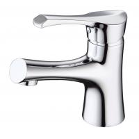 China Brass Ceramic modern bathroom Sink Faucets with  Single Hole on sale