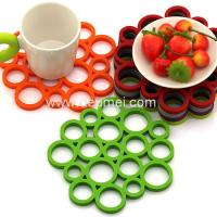 Heat Resistant Circular Bubble Shape Heat Proof Mat Kitchen Table Silicone Mat/Pad Manufactures