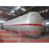 ASME standard 40tons CLW brand lpg gas storage tanks for sale, best price 100,000L propane gas storage tank for sale