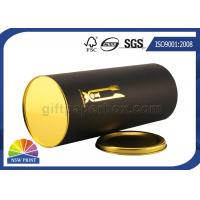 Gold Stamping Logo Black Paper Packaging Tube With Metal Plug Personalised Manufactures