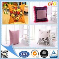 Shrink Resistant Printed Fashion Chair Seat Pillow / Decorative Cushion Covers With Polyester Filling Manufactures
