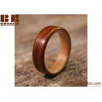 China hot selling mini beautiful burlywood rings for eco-friendly wood gift wholesale
