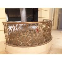 China Laser Cut Rose Golden Balcony Stainless Steel Railing For Villa wholesale