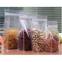 Flat Bottom Side Gusset clear zipper pouch , Reclosable stand up ziplock bags Manufactures