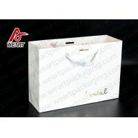 Simple Style Custom Printed Bakery Bags , Ribbon Handle Monogrammed Paper Bags Manufactures