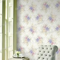 Room Decor Non-Woven Wallpaper with Roses Flower Manufactures
