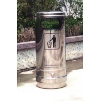 Outside Stainless Steel Single Dustbin, waste bin,garbage bin used for Street Manufactures