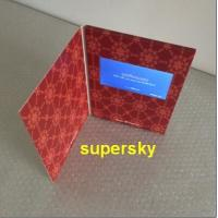 China Customised promotion 7 inch hardcover video card Lcd video in print on sale