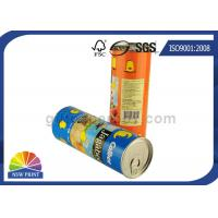Food Grade Easy Peel Off Aluminum Lid Airproof Paper Composite Cans / Packaging Tubes Manufactures