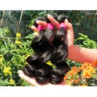 Healthy 100% Malaysian Human Hair Weave Natural Black / Dark Brown From Young Girl