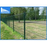 5mm 3D Fence Panel , Pvc Coated Welded Wire Mesh Panels Curving With Plastic / Metal Clip Manufactures