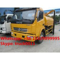 hot sale dongfeng Euro  4  4cubic meters fecal suction truck, factory direct sale 4cubic meters vacuum suction truck, Manufactures