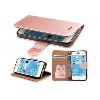 China Shockproof Rose Gold Leather Flip Phone Cover For Apple IPhone 6 6s 4.7 Inch on sale