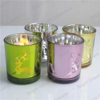 Chritmas candle jar, Chritmas glass candle holder for decor Manufactures