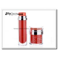 China PP Material Red Plastic Empty Makeup Containers Bottles Capacity 80ml wholesale