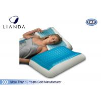 China Blue Arctic Gel Contouring Memory Foam , Bedroom Cool Bed Pillow wholesale